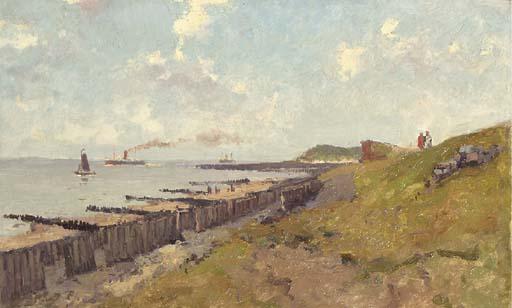 Gezicht op Catzand aan de kust