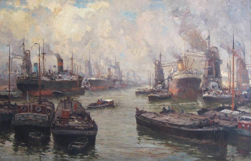 Industriehaven van Rotterdam