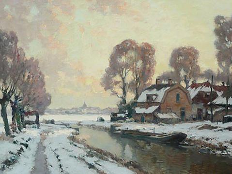 Winter bij Voorburg