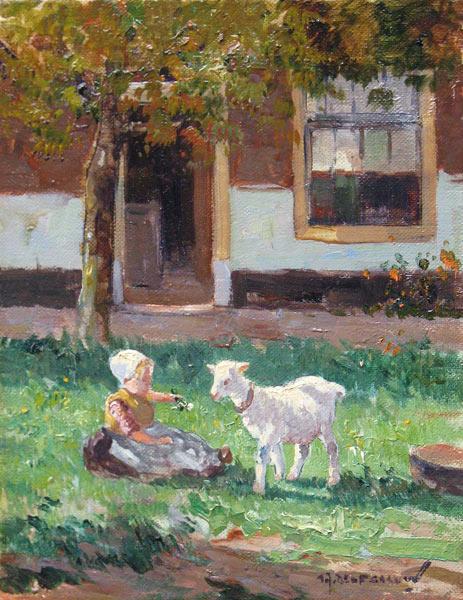 Kind met geitje