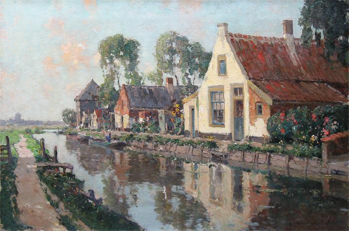 Huizen aan de vaart, bij Voorschote