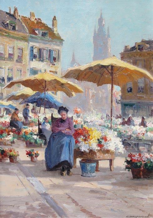 Bloemenmarkt in Delft