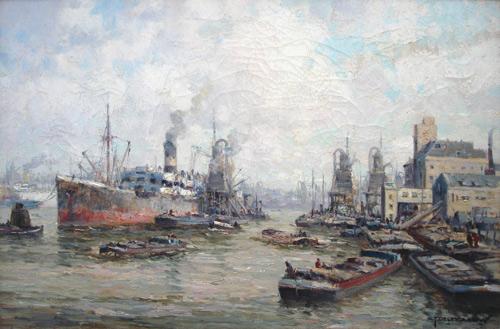 Industriehaven met kade