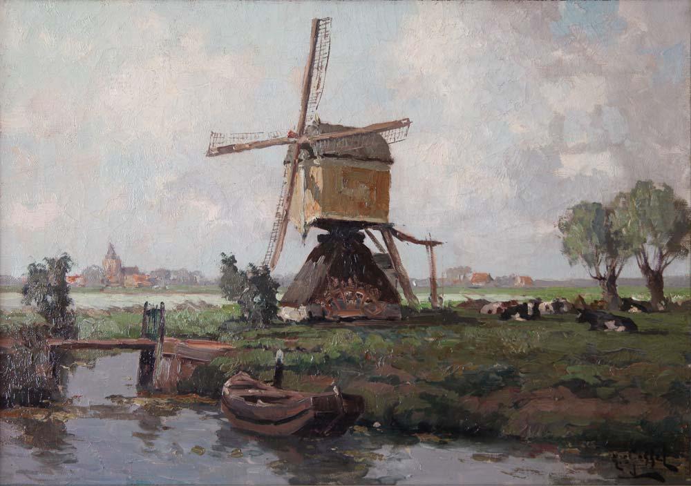 Landscape signed with H. van Gessel