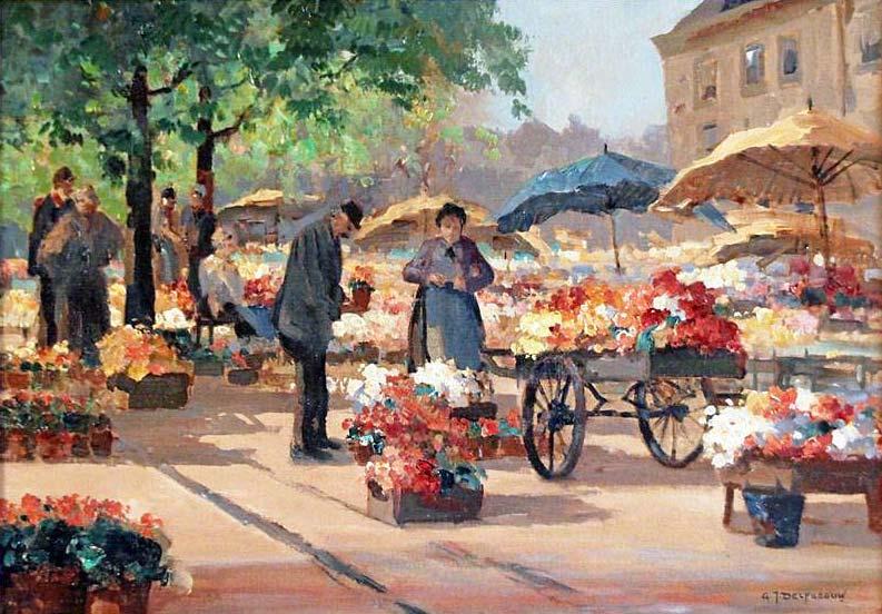Bloemenmarkt te Delft